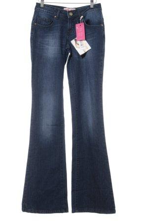 Fiorucci Jeansschlaghose dunkelblau Casual-Look