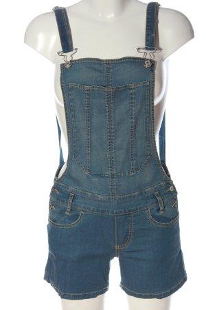 Fiorucci Pantaloncino con bretelle blu stile casual