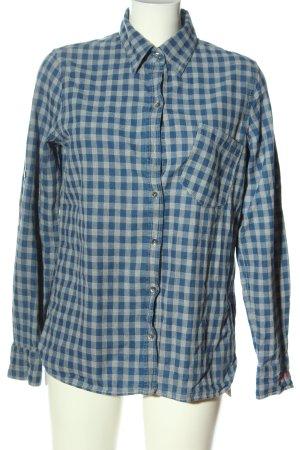 Fire + ice Camicia da boscaiolo blu-grigio chiaro motivo a quadri stile casual