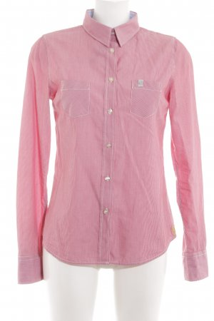 Fire + ice Langarmhemd pink-weiß Streifenmuster Casual-Look