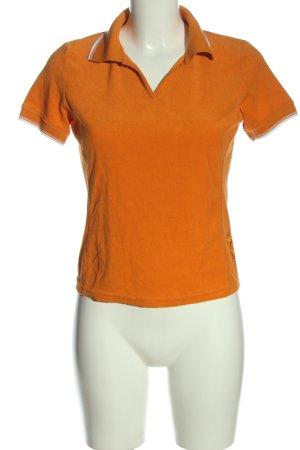 Fire + ice Polo arancione chiaro-bianco motivo a righe stile casual