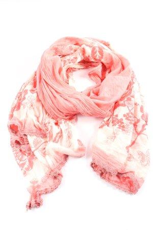 Fire + ice Écharpe d'été blanc cassé-rose imprimé allover élégant