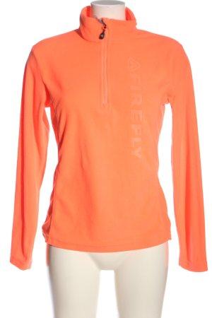 Firefly Kurtka polarowa jasny pomarańczowy Wydrukowane logo W stylu casual