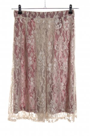 Firenze Falda de encaje rosa-crema estampado floral look casual
