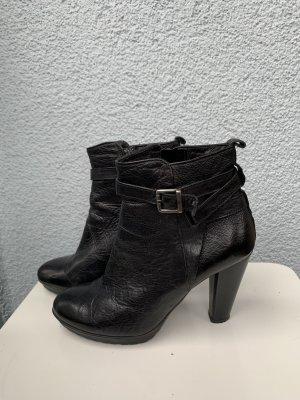 Firenze Stiefellette schwarz echt Leder gr 39