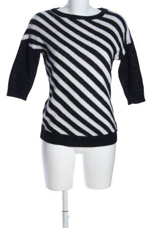 Firetrap Sweter z krótkim rękawem czarny-biały Melanżowy W stylu casual