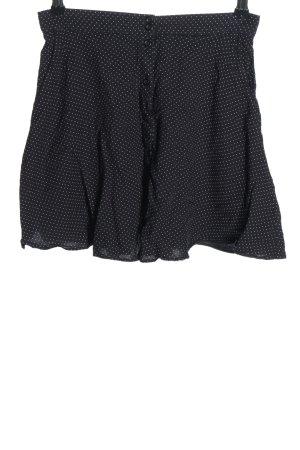 Firetrap Spódnica mini czarny-biały Wzór w kropki W stylu casual