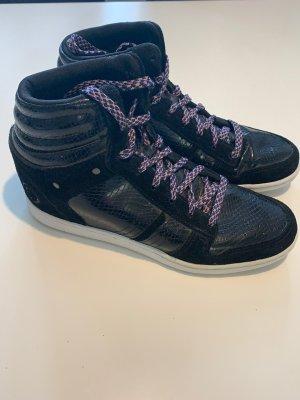 Firetrap Basket à lacet noir cuir