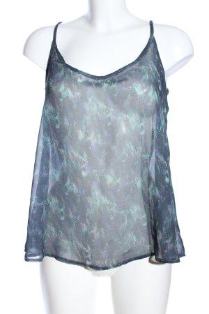 Firetrap Haut à fines bretelles turquoise-bleu motif abstrait élégant