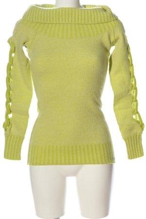 Firetrap Wełniany sweter zielony W stylu casual