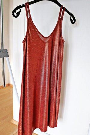 First And I - Bronze Schimmerndes Trägerkleid (20er Jahre inspiriert)