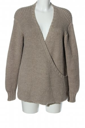 FIRST RITE Strickpullover bronzefarben Zopfmuster Casual-Look