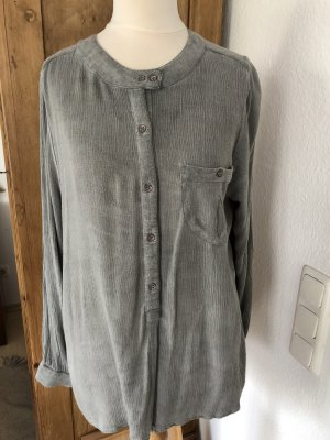 Circle of Trust Long Sleeve Blouse grey-sage green rayon