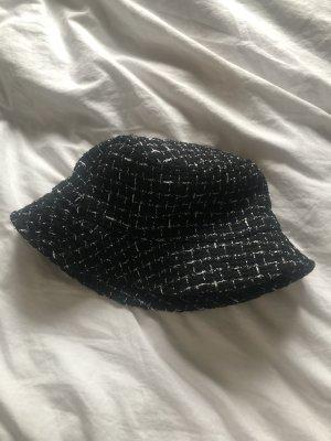 Vintage Sombrero de cubo color plata-negro