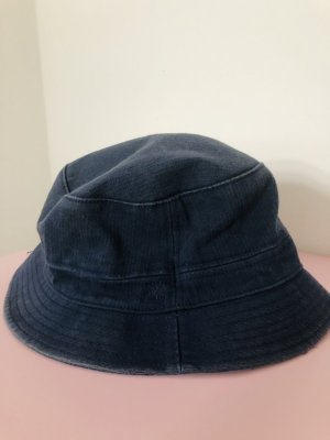 Timberland Bucket Hat dark blue-slate-gray cotton