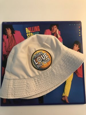 Vintage Cappello da pescatore crema