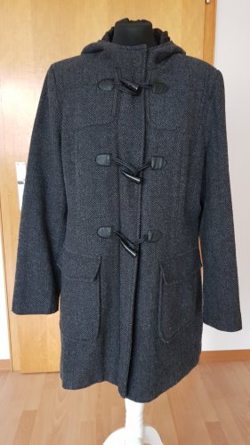 Charles Vögele Hooded Coat multicolored wool