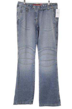 Fishbone Boot Cut Jeans hellblau Casual-Look