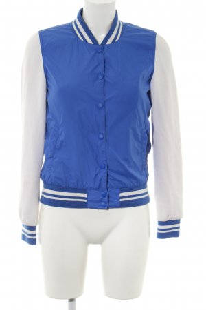 Fishbone College Jacket blue-light grey striped pattern casual look