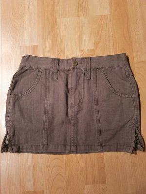 Fishbone Mini rok olijfgroen-khaki
