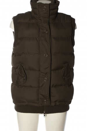 Fishbone Down Vest brown quilting pattern casual look