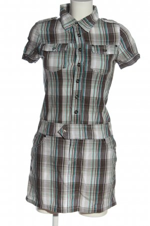 Fishbone Abito blusa camicia motivo a quadri stile casual