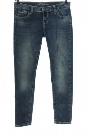 Fishbone Hüftjeans blau Casual-Look