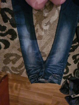 Fishbone Jeans svasati blu scuro