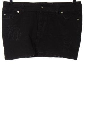 Fishbone Gonna di jeans nero stile casual