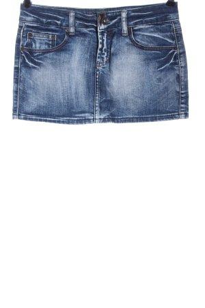 Fishbone Jeansrock blau Casual-Look