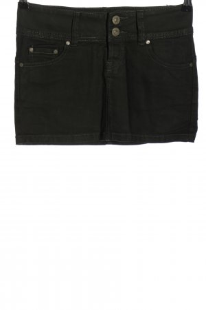 Fishbone Jeansrock hellgrau Casual-Look