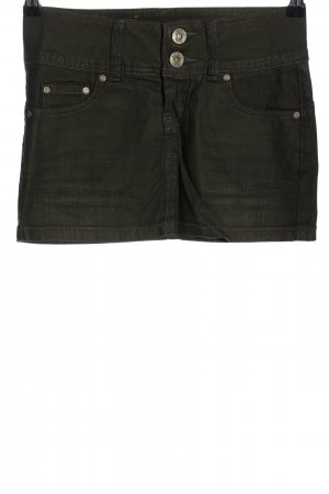 Fishbone Jeansrock schwarz Casual-Look