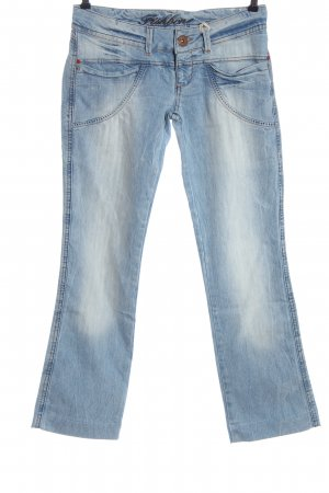 Fishbone Denim Flares blue casual look