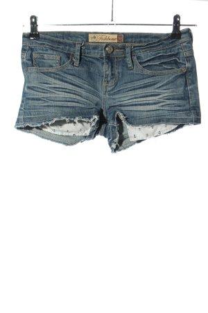 Fishbone Jeansshorts blau Casual-Look