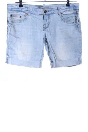 Fishbone Denim Shorts blue casual look