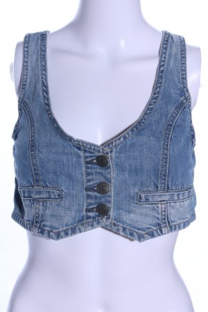 Fishbone Jeansweste blau Casual-Look