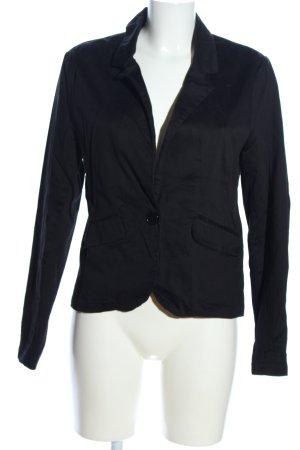 Fishbone Jersey blazer zwart casual uitstraling