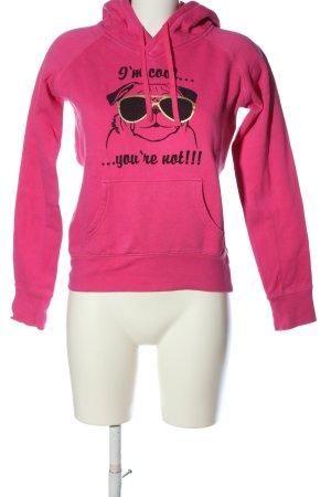 Fishbone Kapuzensweatshirt Motivdruck Casual-Look