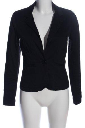 Fishbone Korte blazer zwart zakelijke stijl