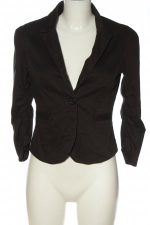 Fishbone Kurz-Blazer schwarz Business-Look