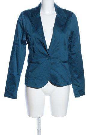 Fishbone Korte blazer blauw zakelijke stijl