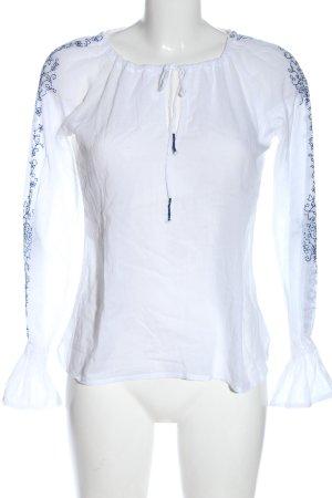 Fishbone Camicetta a maniche lunghe bianco stile casual