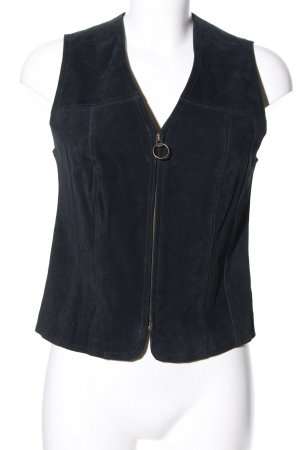 Fishbone Leather Vest black casual look