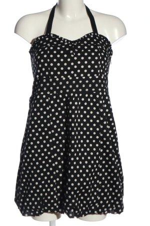 Fishbone Minikleid schwarz-weiß Allover-Druck Casual-Look