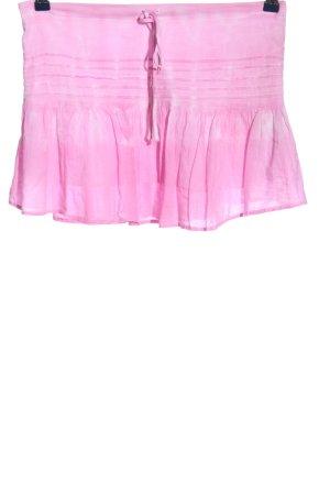 Fishbone Minirock pink meliert Casual-Look