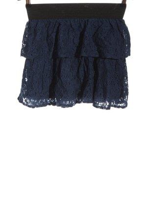 Fishbone Mini rok blauw elegant