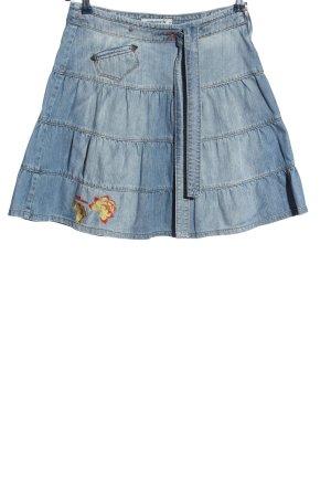 Fishbone Mini rok blauw casual uitstraling