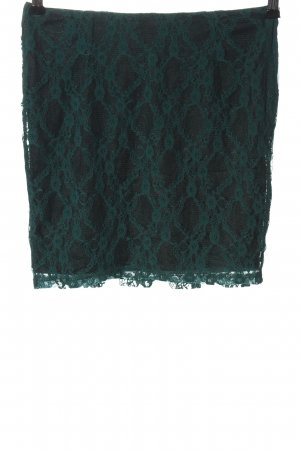 Fishbone Mini rok turkoois-khaki volledige print casual uitstraling