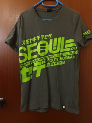 Fishbone T-shirt grigio-verde