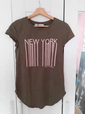 Fishbone T-shirt rosa-grigio-verde